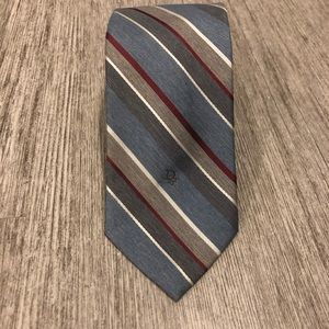 Christian Dior Striped tie blue red and gray VTG